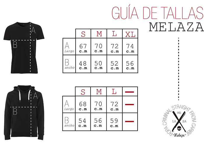 Guía de tallas Melaz